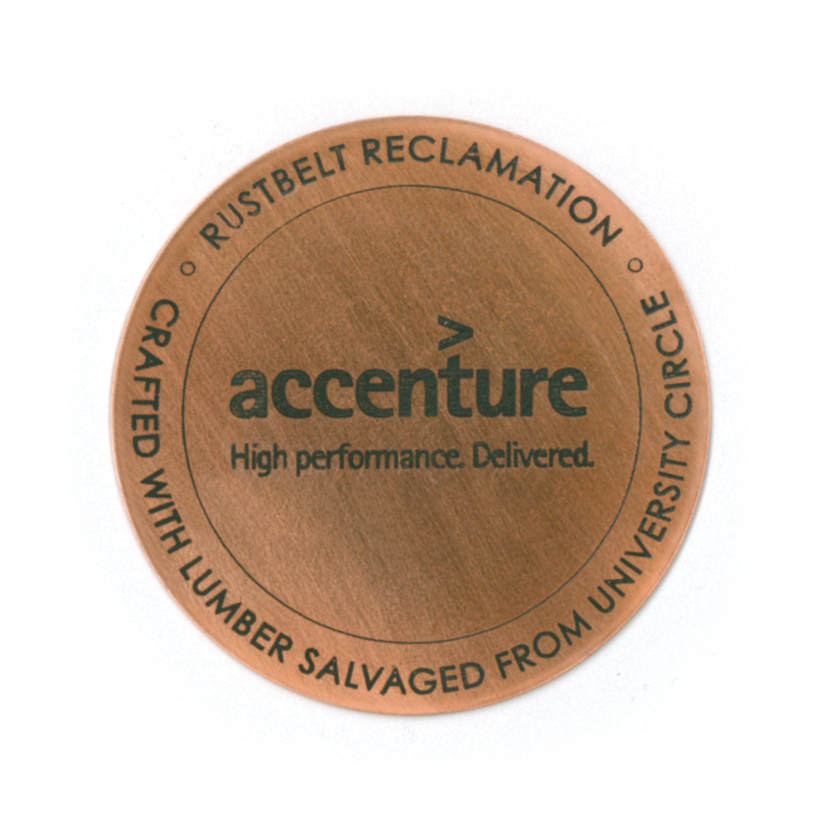 ACCENTURE LOGO - 2ӯ ENAMELED COPPER