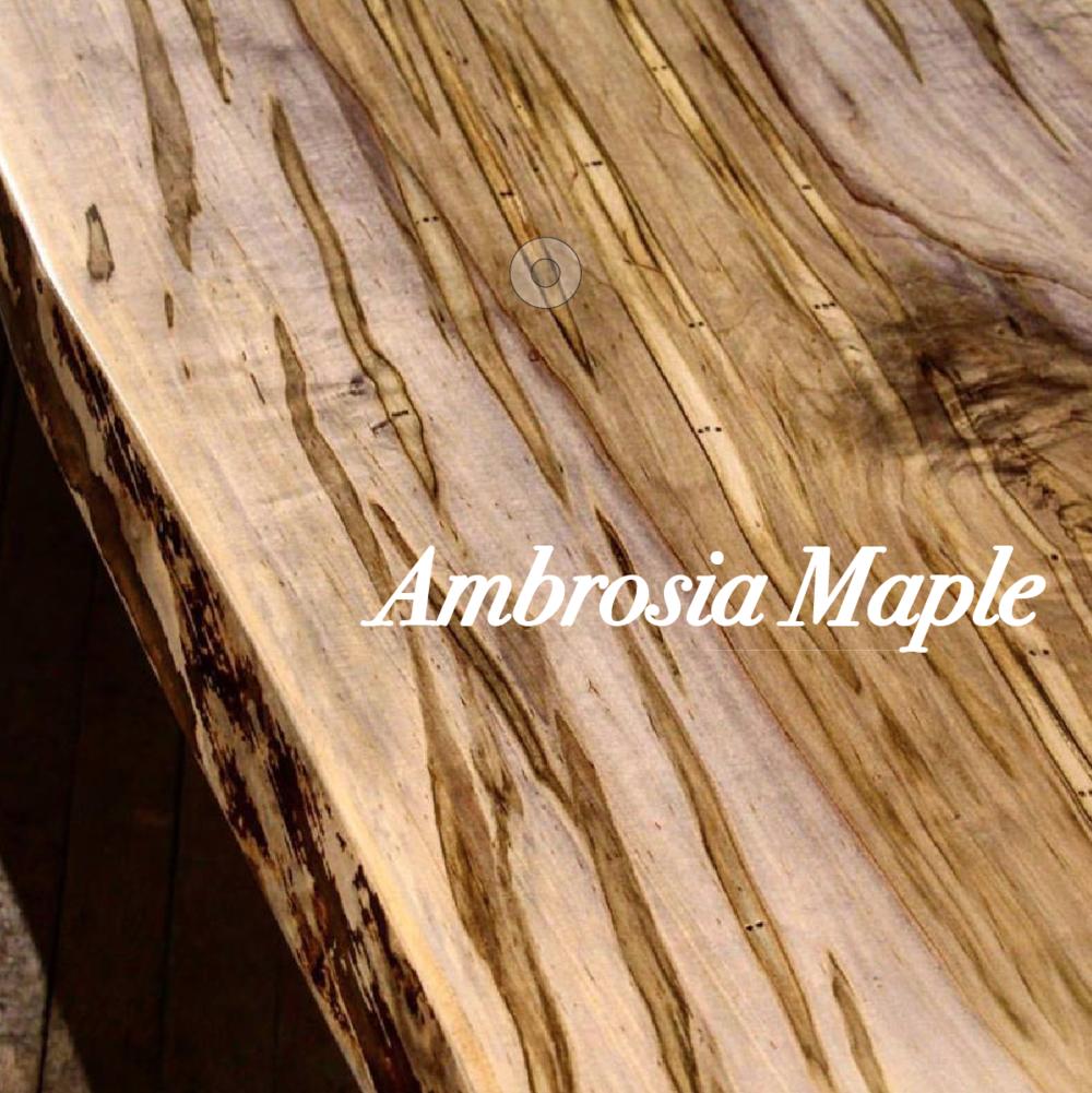Live Edge Table/Benches U2013 Ambrosia Maple