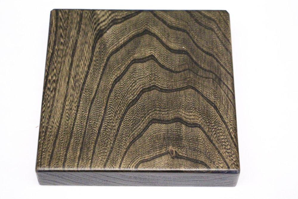 Grey elm / Auburn Hills stain / polyurethane / satin
