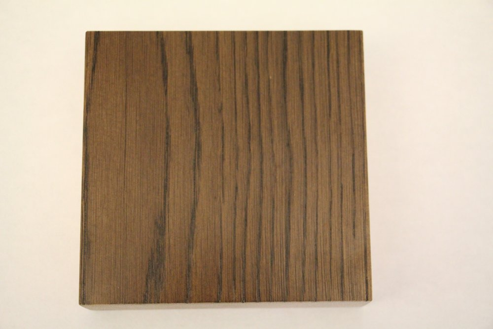 White oak / smooth / mangalore mango stain / polyurethane / dull