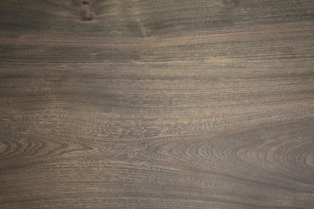 Elm / slab / smooth / shark skin grey stain / polyurethane