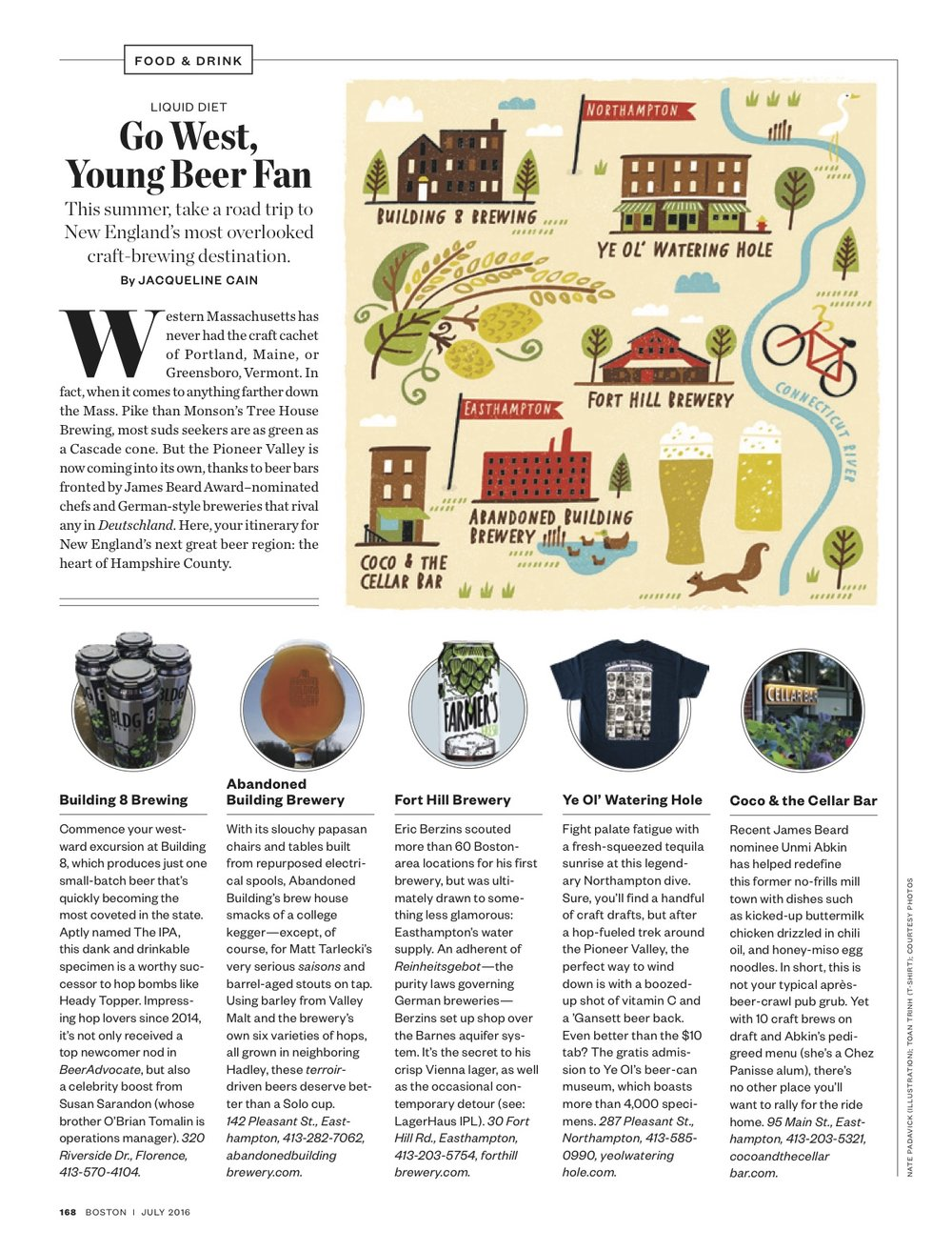 Boston Magazine - Map location: Pioneer Valley, MA