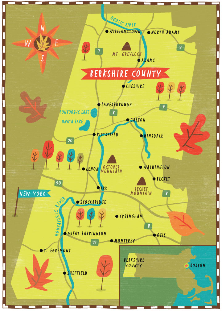 Yankee Magazine - Map location: Berkshire County, MA