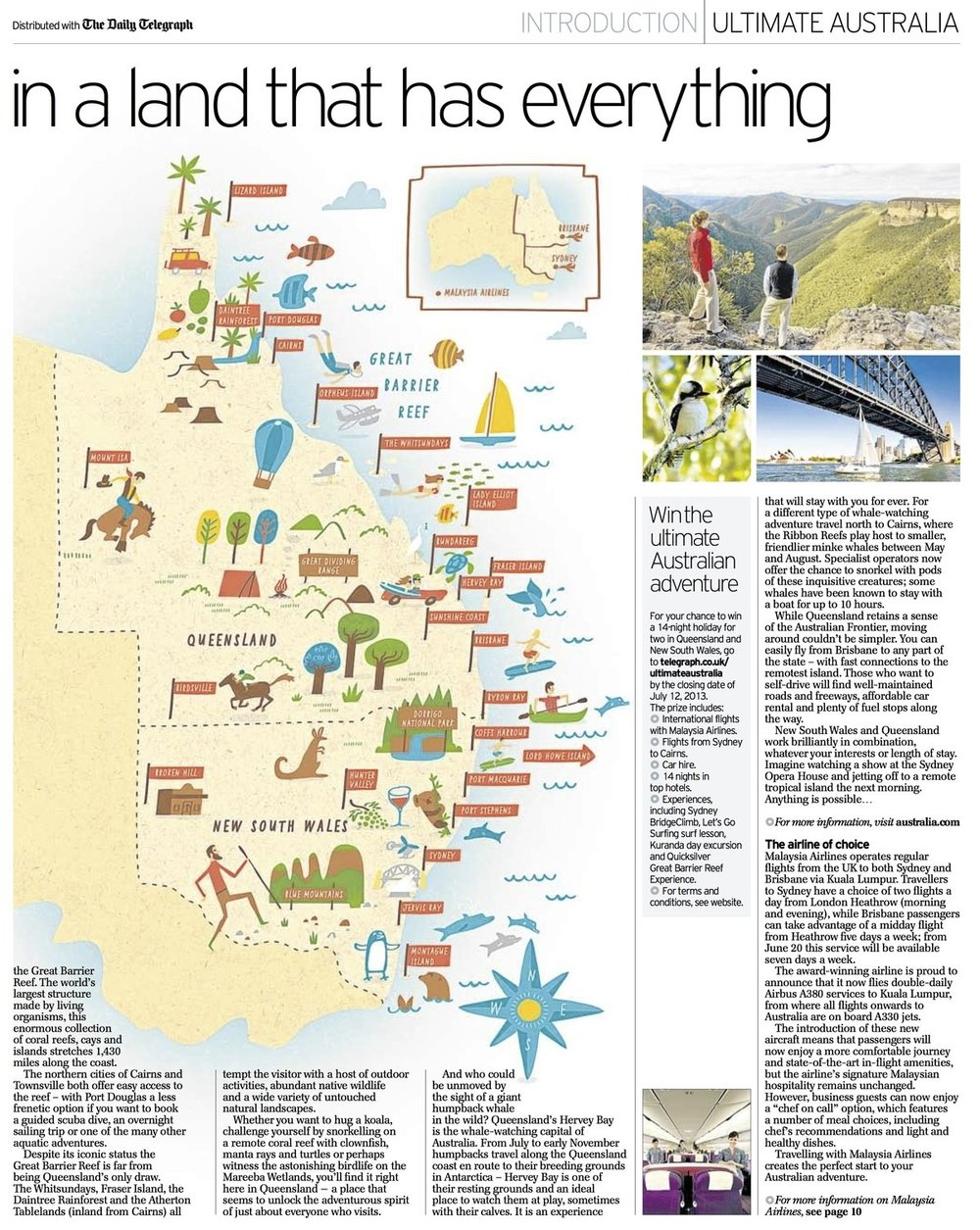 The Daily Telegraph - Map location: New South Wales, Australia