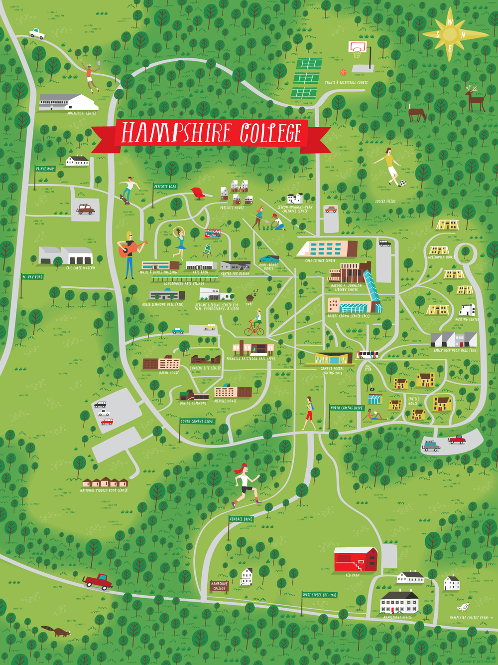 Hampshire College - Map location: Amherst, MA