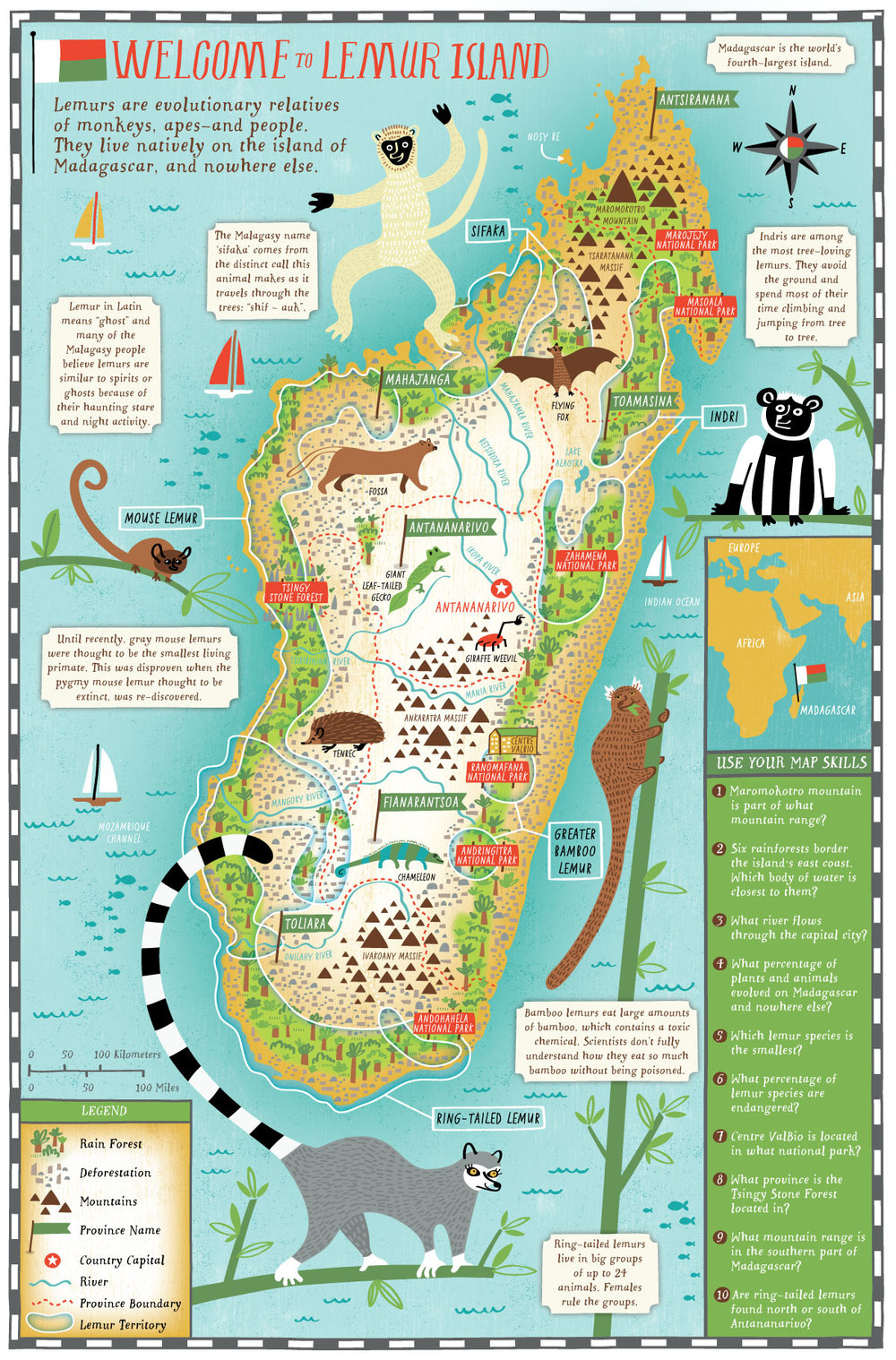 Illustrated Map of Madagascar
