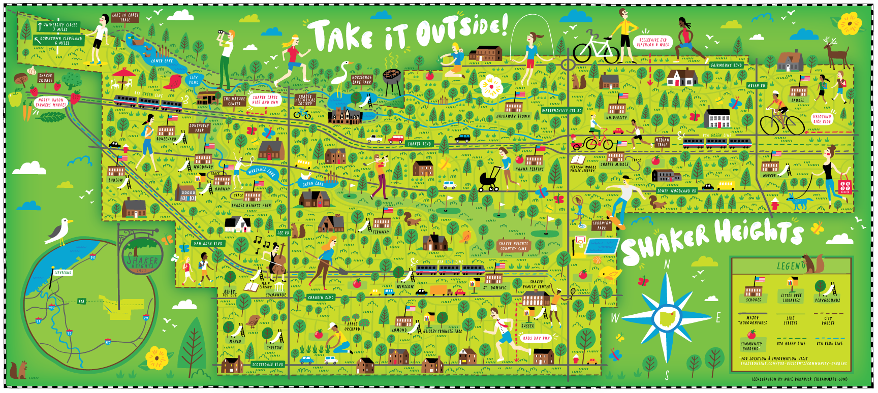 Illustrated Map Of Shaker Heights Oh Nate Padavick