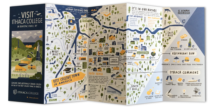 Campus Map Ithaca College.Illustrated Map Of Ithaca College Ny Nate Padavick