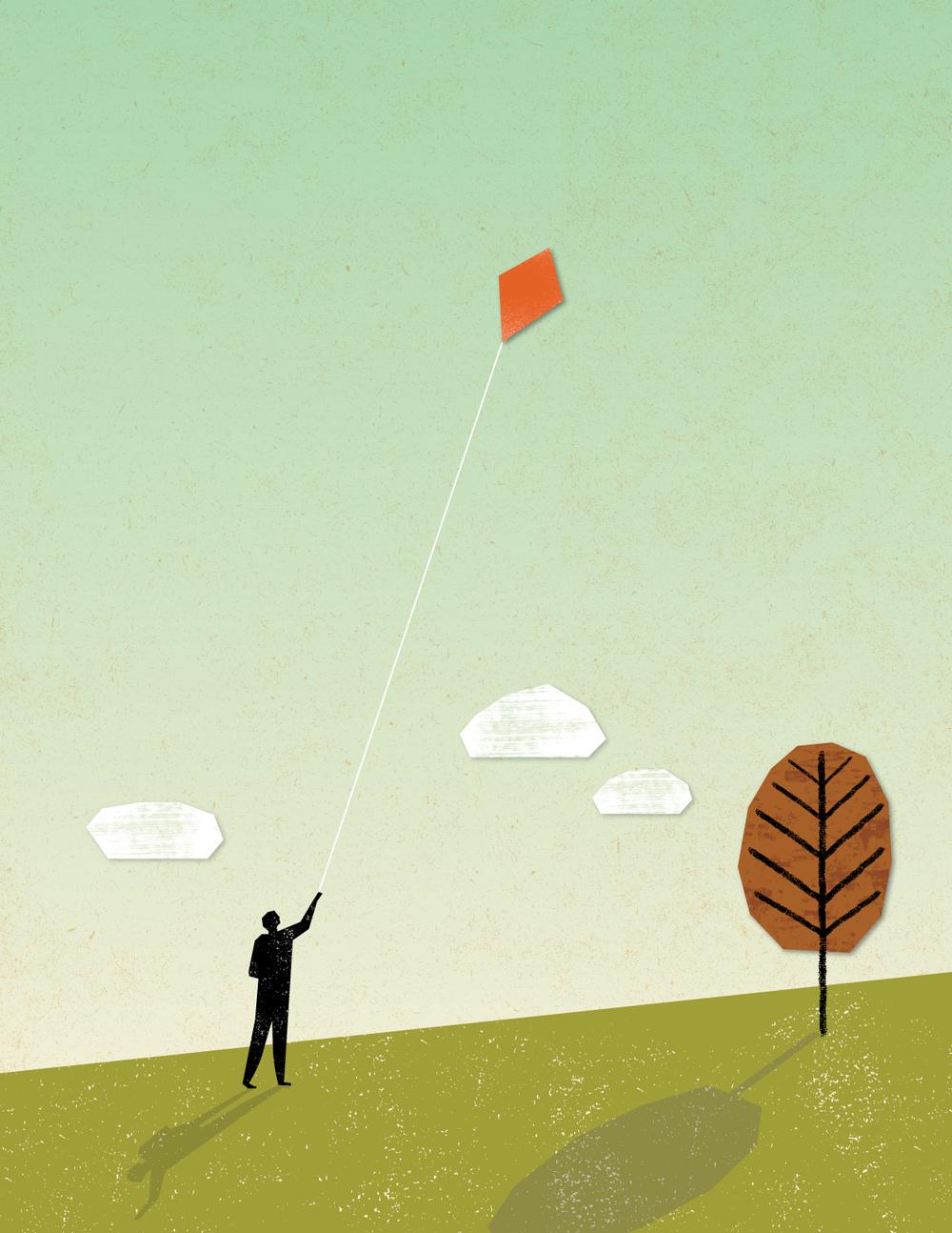 Kite flying by Nate Padavick