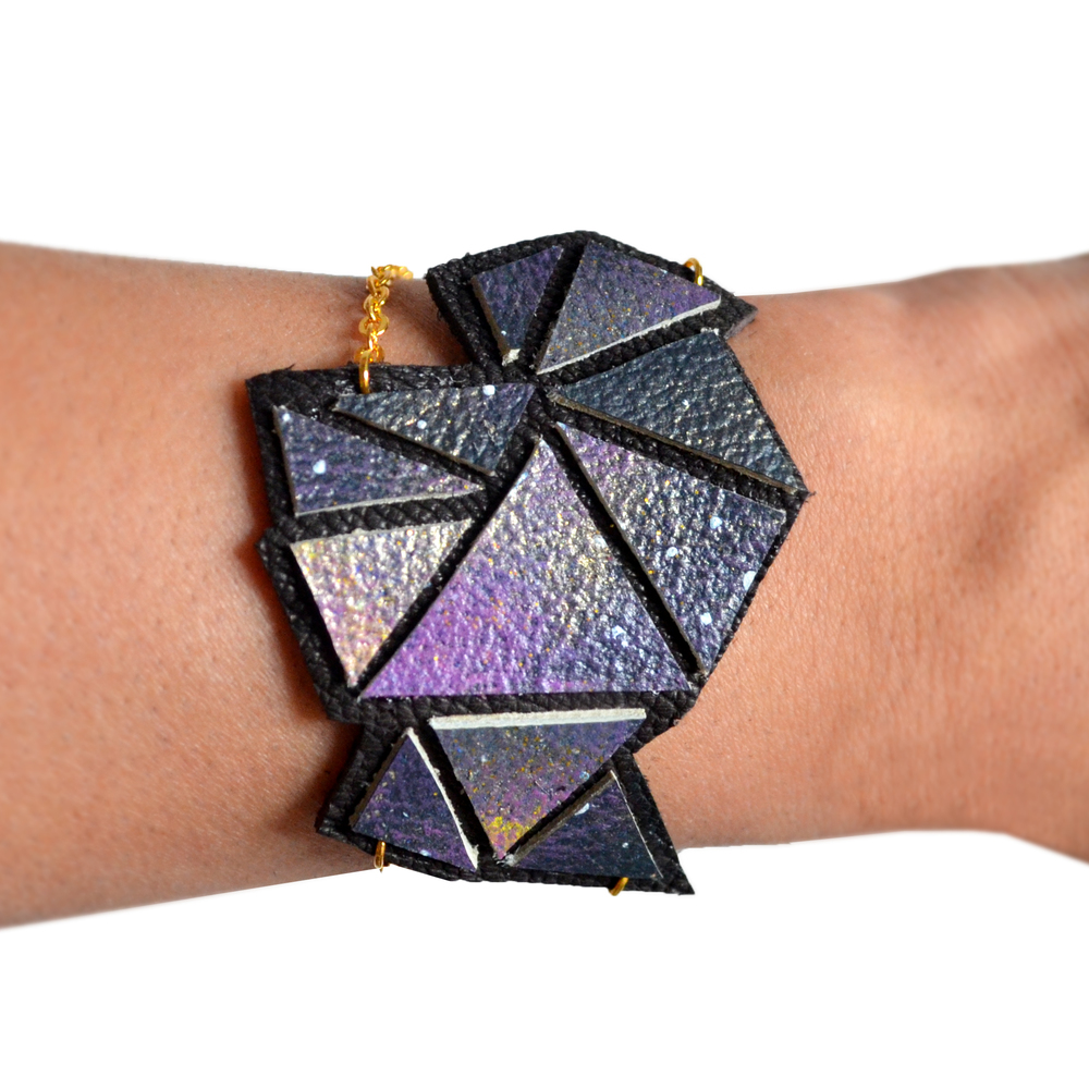 Galaxy Leather Cuff Bracelet