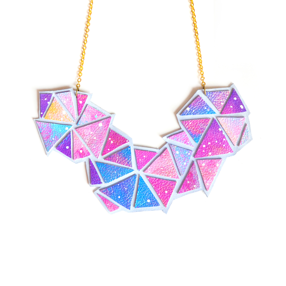 Universe Triangle Bib Necklace 2.jpg