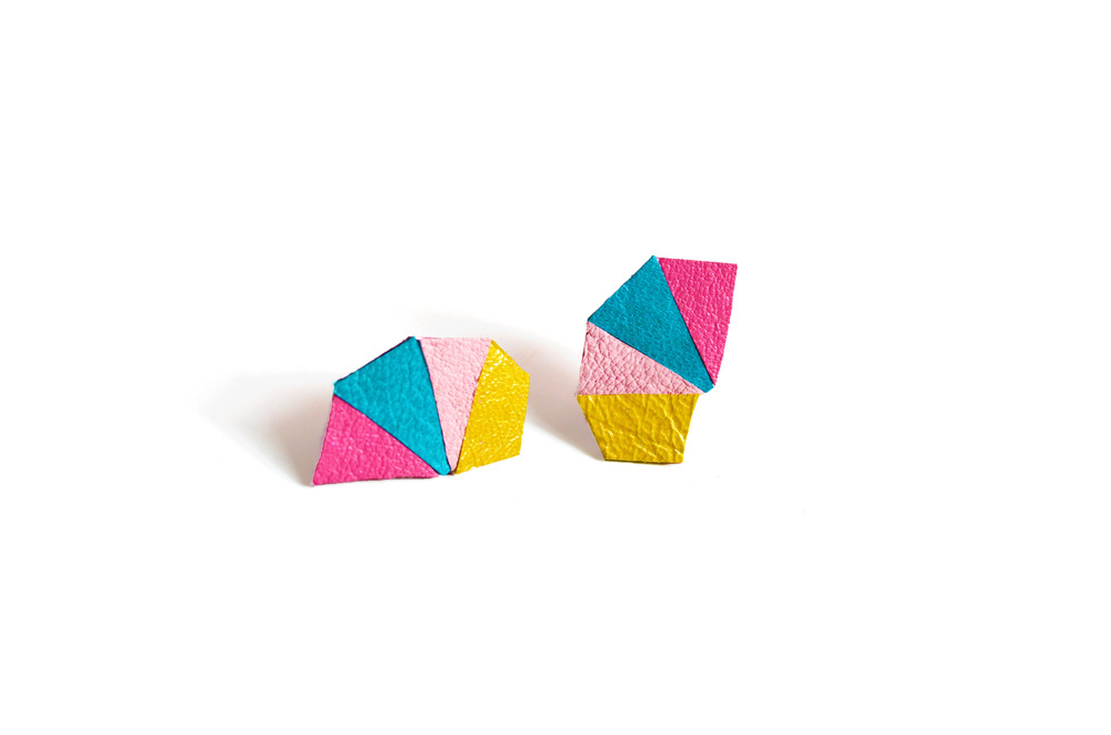 Geometric Leather Earrings Mini Triangle Color.jpg