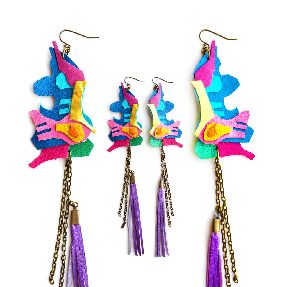 Neon Geometric Earrings Tribal Ink Blot 4.jpg