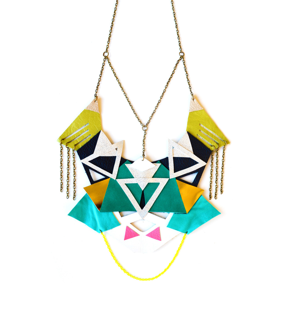 Neon Necklace Geometric Tribal Triangles 2.jpg