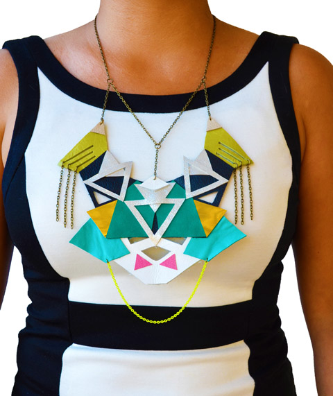 Neon Necklace Geometric Tribal Triangles Submission.jpg