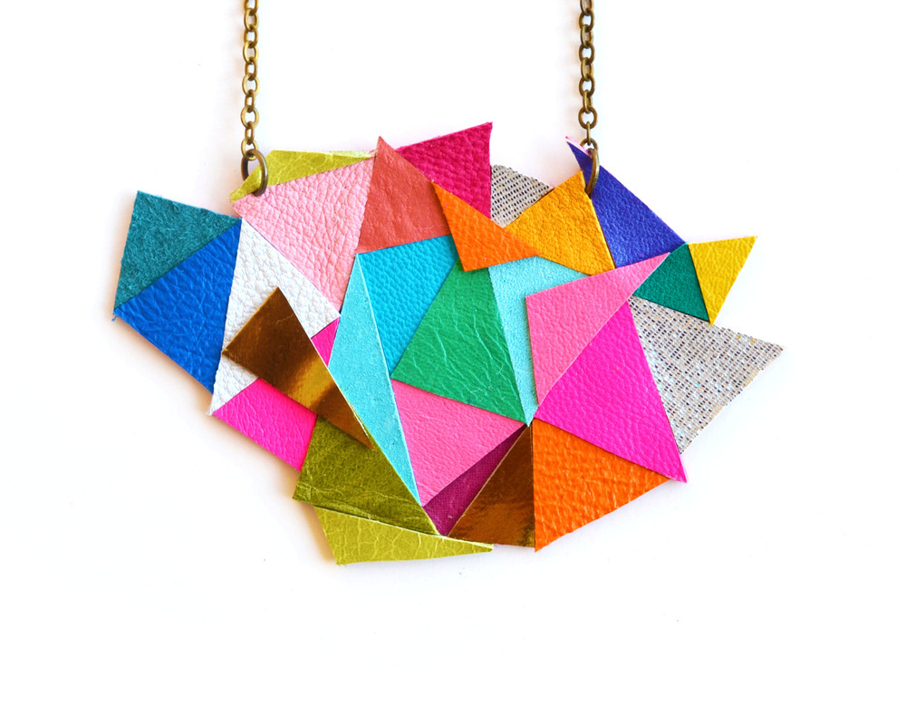 Neon Geometric Necklace Color Block Triangles 4.jpg