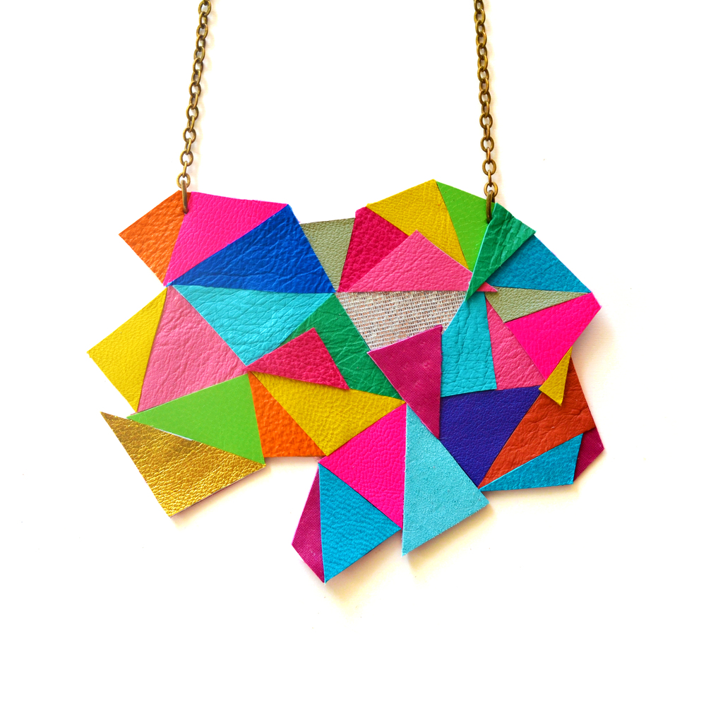 Neon Geometric Necklace Color Block Triangles c.jpg