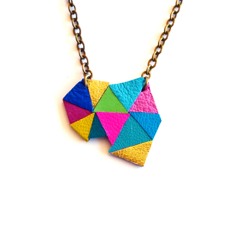 Triangle Pendant Necklace Neon Geometric Color Block 12.jpg