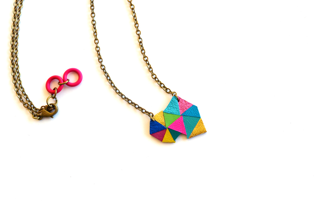 Triangle Pendant Necklace Neon Geometric Color Block 11.jpg