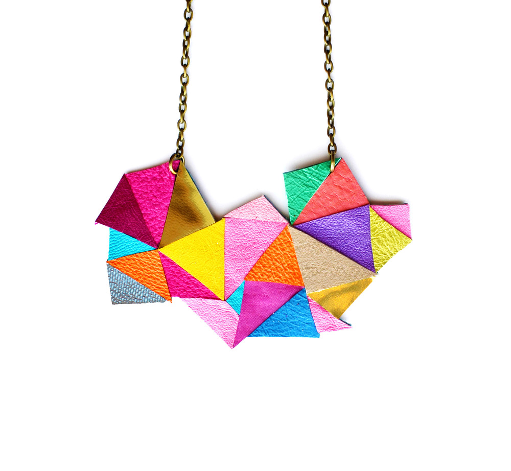 Geometric Necklace Neon Triangles 5.jpg