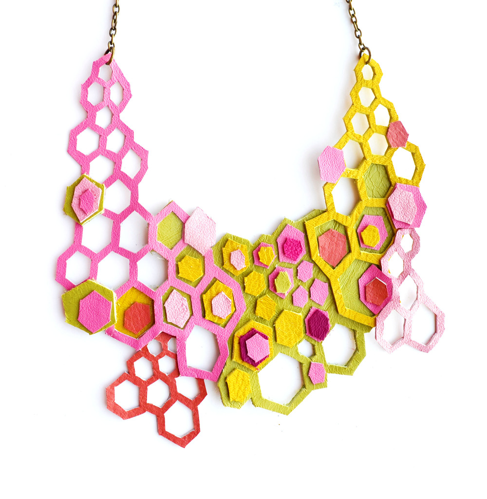 Neon Geometric Necklace Molecular Hexagons 5.jpg