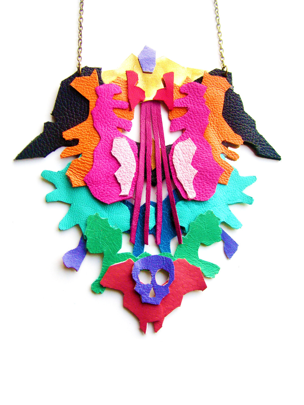 Geometric Leather Necklace Color Ink Blot.jpg