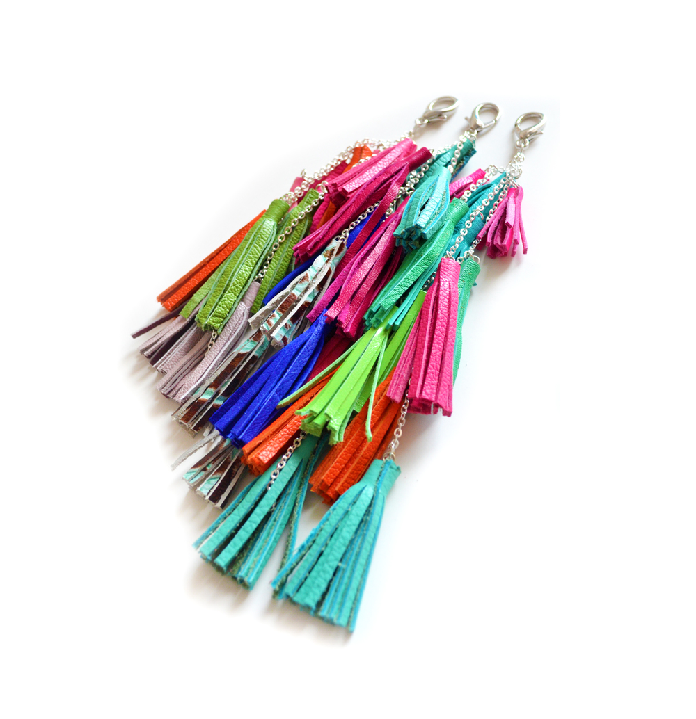 Fringe Leather Tassel Keychains all 3.jpg