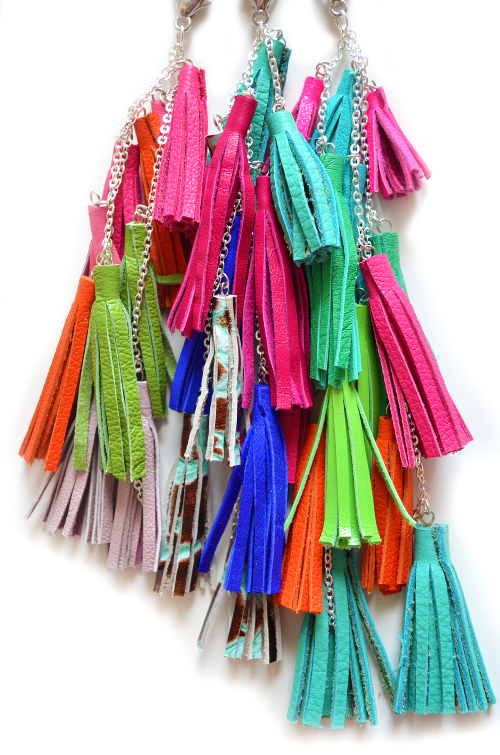 Fringe Leather Tassel Keychains all 2.jpg