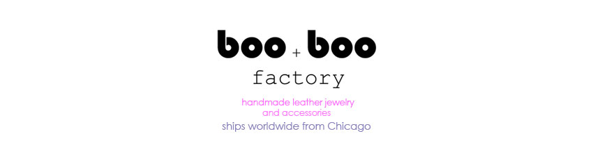 Boo and Boo Factory - Handmade Geometric Leather Jewelry