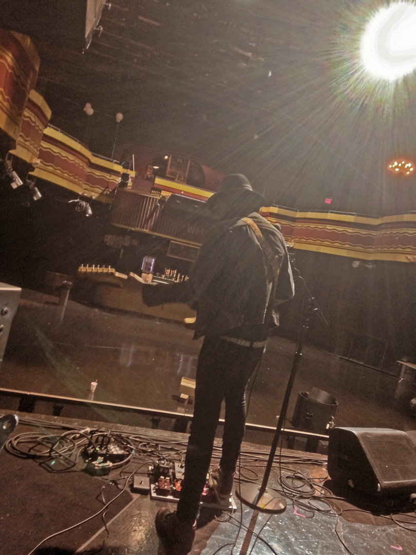 Elijah Ford soundchecking at Webster Hall - Photo by Joshua Zimmerman