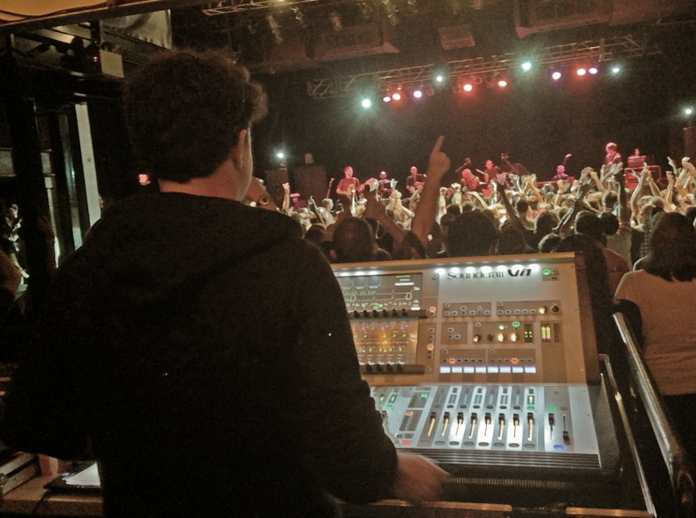 The man, the myth, the legend, Tim Dulany mixing The Heavy at TLA in Philadelphia - Photo by Joshua Zimmerman