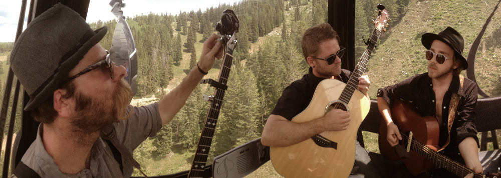 Justin, Jeremiah, and Elijah playing in a gondola in beautiful Aspen - Photo by Joshua Zimmerman