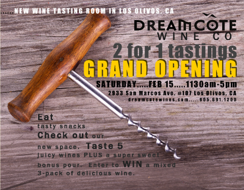 Dreamcôte Grand Opening Flyer