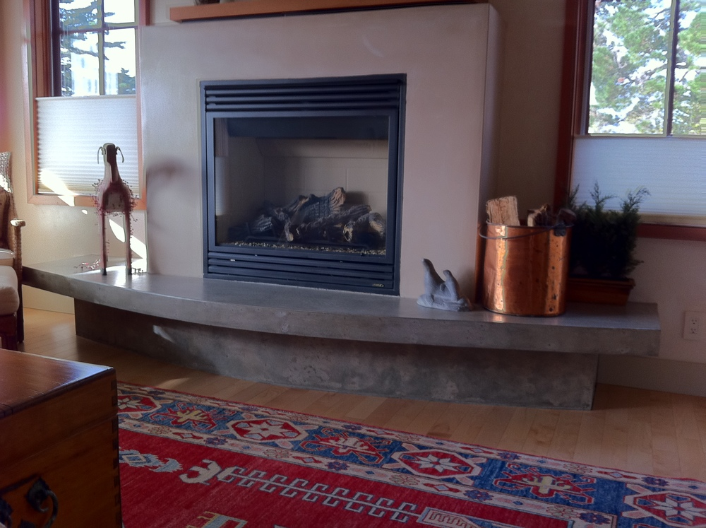 Same house, Master Bedroom. We did a cantilevered hearth and base.