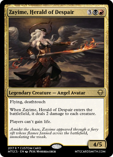 Zayime, Herald of Despair