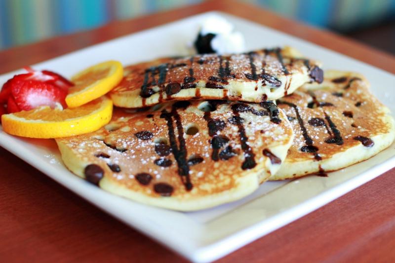 BREAKFAST Chocolate Chip Pancakes