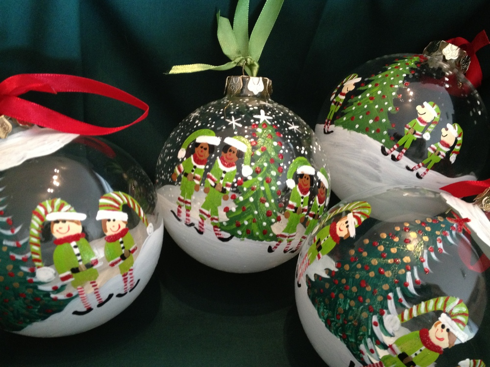 All ornaments are hand painted in the US.