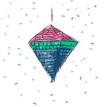 Multi-Colored Piñata & Confetti Kit