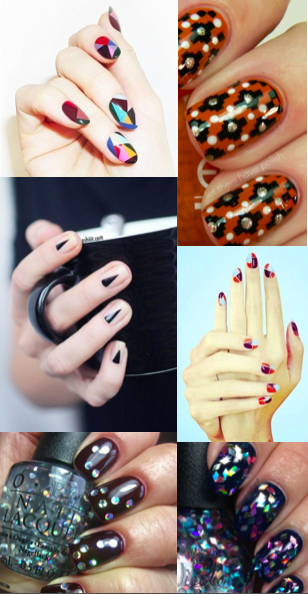 Nail Art That Nailed It  LOVING everything about these geometric nail designs!  Image from our Pinterest board,  n a i l s .