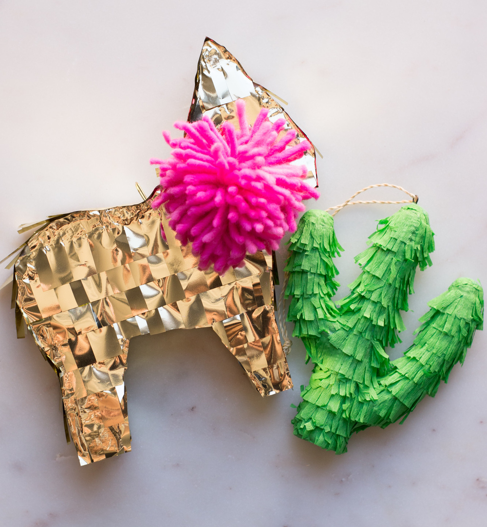 Everything is better in mini. Llama Piñata by Prospect Goods, made exclusively for Free People.