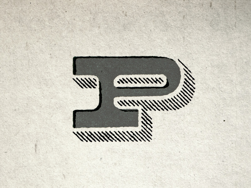 This P went into battle and won over at  typefight.com