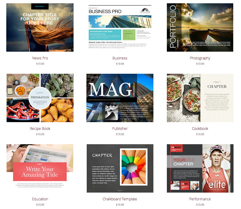 templates for keynote and ibooks author templates
