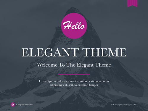 elegant powerpoint — author ready templates, Modern powerpoint