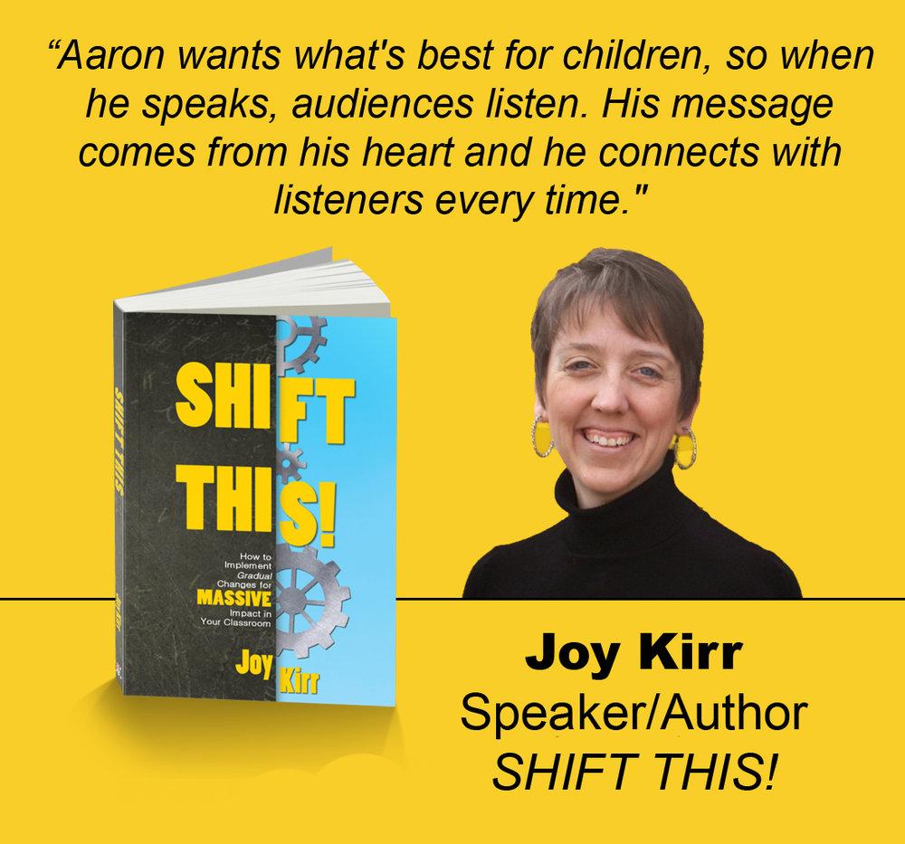 Joy Kirr, Author of Shift This (DBC Publishing)