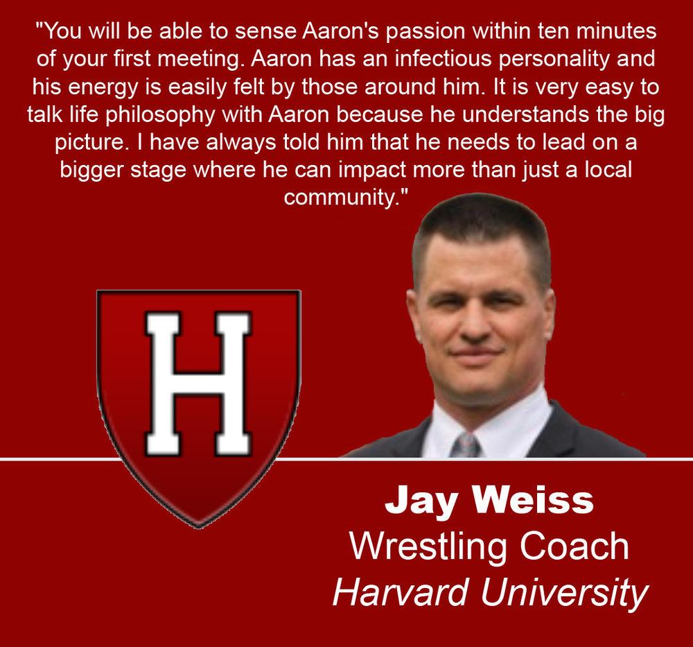 Jay Weiss, Head Wrestling Coach of Harvard University