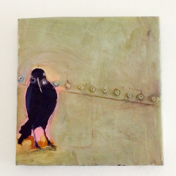 Crow. 1997 Aaron Arendt (Given to me after a painting class critique. I adore it everyday).