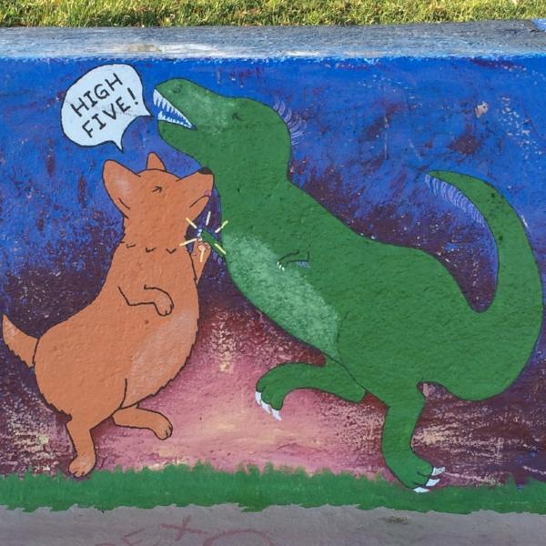 Mural at Loyola Beach Park. Photograph: Jennifer Hoffman 2016
