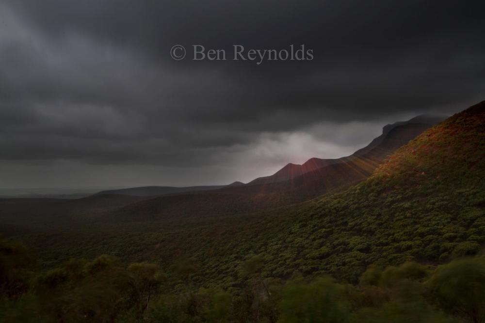 Last Light on the Stirling Ranges