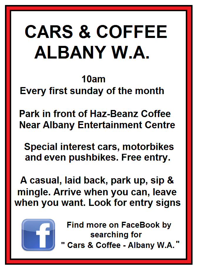 Cars and coffee Albany WA