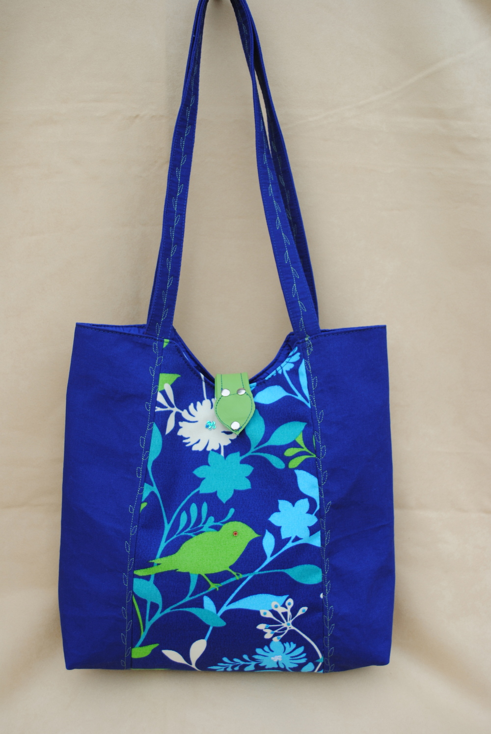 Green Bird Tote